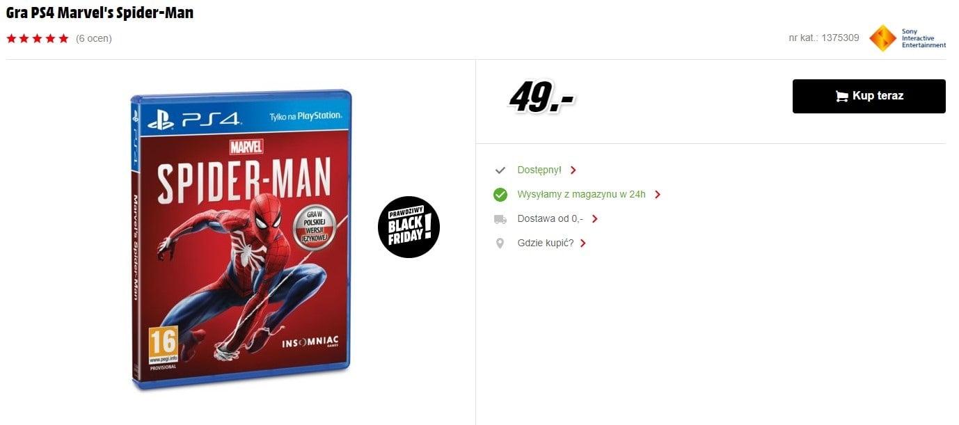 [Aktualizacja] Spider Man na PS4 za 49 złotych, czyli krótka historia o tym, że sklepy jednak potrafią wyjść z twarzą z wpadek cenowych 28