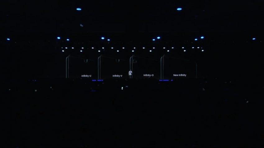"""Tabletowo.pl Trzy rodzaje wycięć w ekranach nowych smartfonów Samsunga - tak mogą wyglądać. Jest też """"beznotchowy"""" Infinity Koncepcje Samsung Smartfony"""