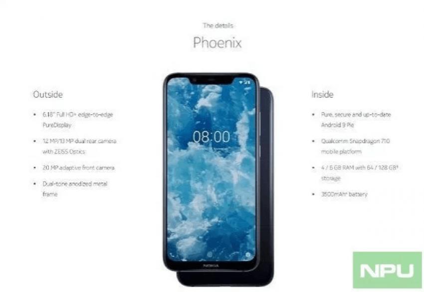 Tabletowo.pl Nokia 8.1 - jeszcze nie było premiery, a wiemy już o niej niemal wszystko Nokia Plotki / Przecieki Producenci Smartfony