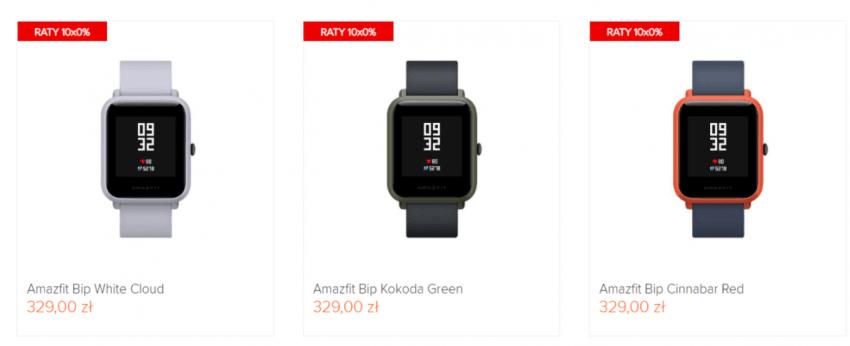 Tabletowo.pl Mi-home.pl będzie w najbliższy poniedziałek sprzedawać smartwatch Amazfit Bip za 259 zł. To najtaniej wśród polskich sklepów Promocje Wearable Xiaomi