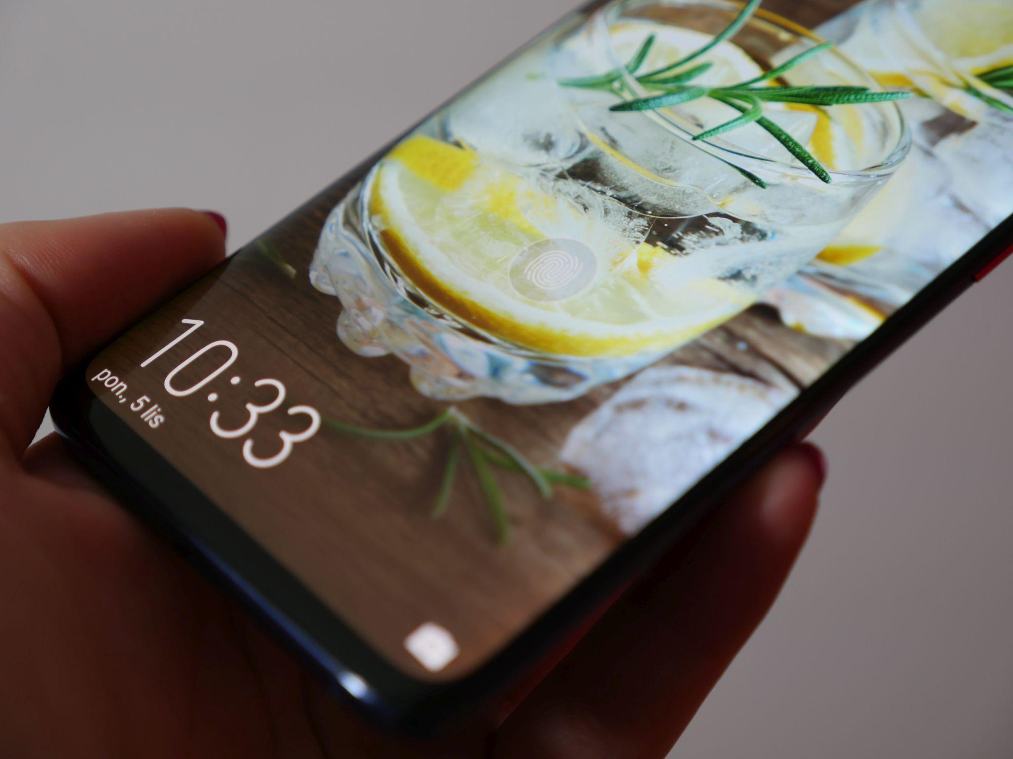 ekranowy czytnik linii papilarnych w Huawei Mate 20 Pro