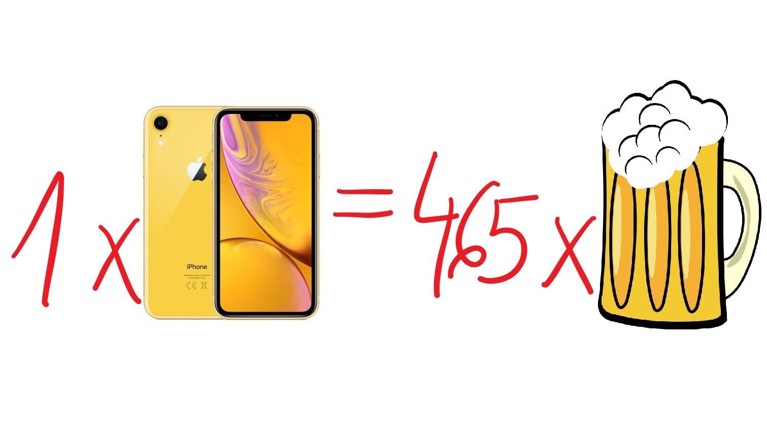 Żeby kupić sobie iPhone'a XR, przeciętnie zarabiający Polak musi poświęcić 24 dni pracy. To jakieś 465 piw 23