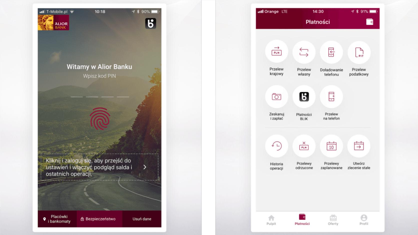 Aplikacja Alior Banku wspiera już autoryzowanie operacji przy pomocy odcisków palców