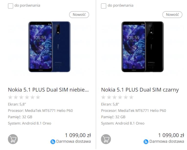 Tabletowo.pl Nokia chce sprzedawać w Polsce model 5.1 Plus za 1099 złotych. Życzę powodzenia... Nokia Nowości Smartfony