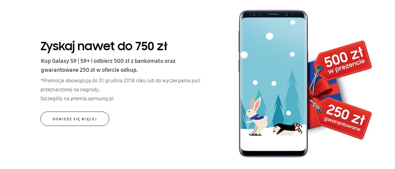To może być dobry moment na zakup Galaxy S9 i Galaxy S9+, bo można odzyskać nawet 750 złotych w gotówce 24