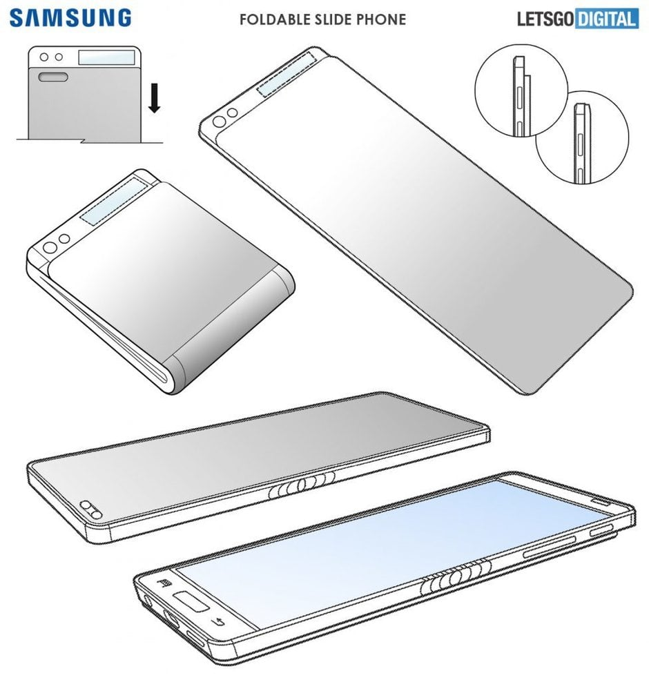 Smartfon, który jest rozsuwany i składany jednocześnie? To jeden z nowych patentów Samsunga! 18