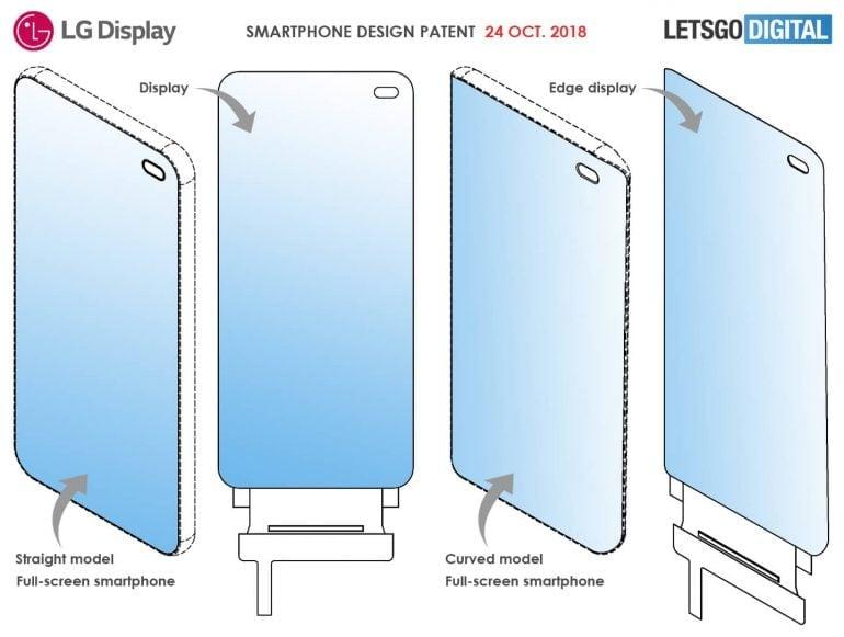 """Tabletowo.pl LG patentuje własny pomysł na bezramkowy smartfon. Ma mieć """"dziurę"""" w ekranie Koncepcje LG Smartfony"""