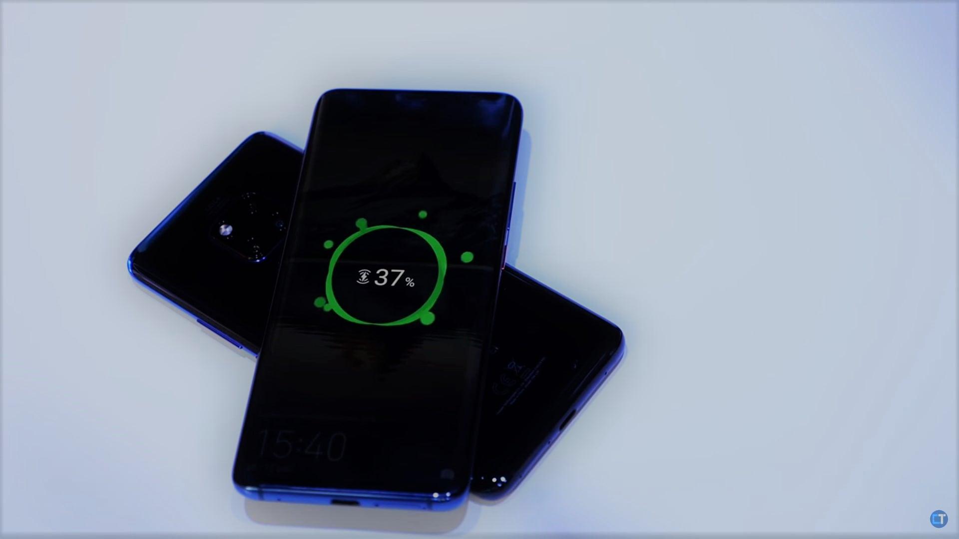 Huawei Mate 20 Pro bezprzewodowe ładowanie zwrotne
