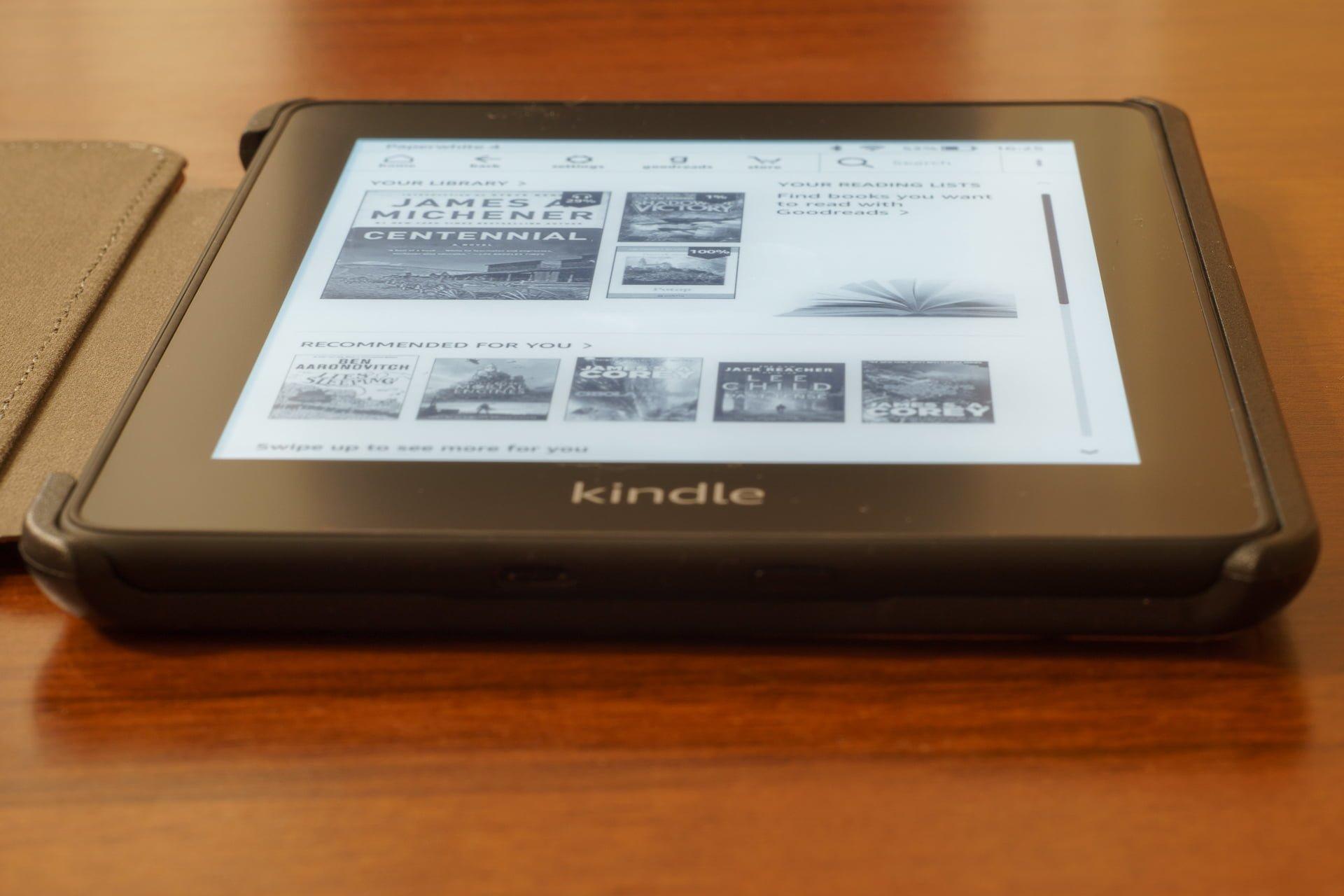 Czytniki Kindle rejestrują dotknięcia ekranu. Wszystkie dotknięcia 18