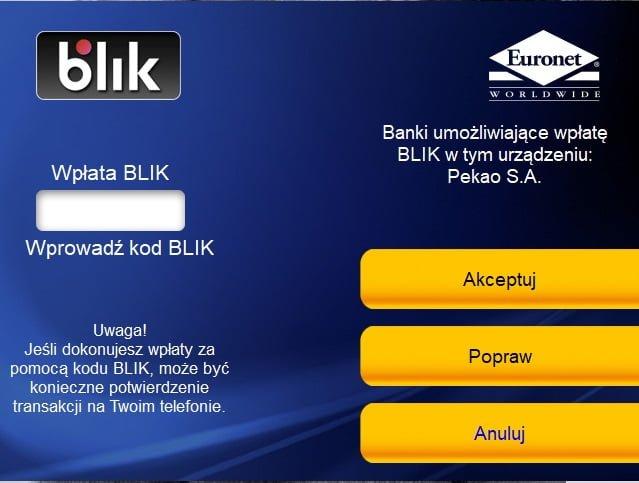 Tabletowo.pl Klienci Pekao S.A. mogą od dziś wpłacać pieniądze za pomocą BLIK-a w maszynach Euronet i Planet Cash Nowości