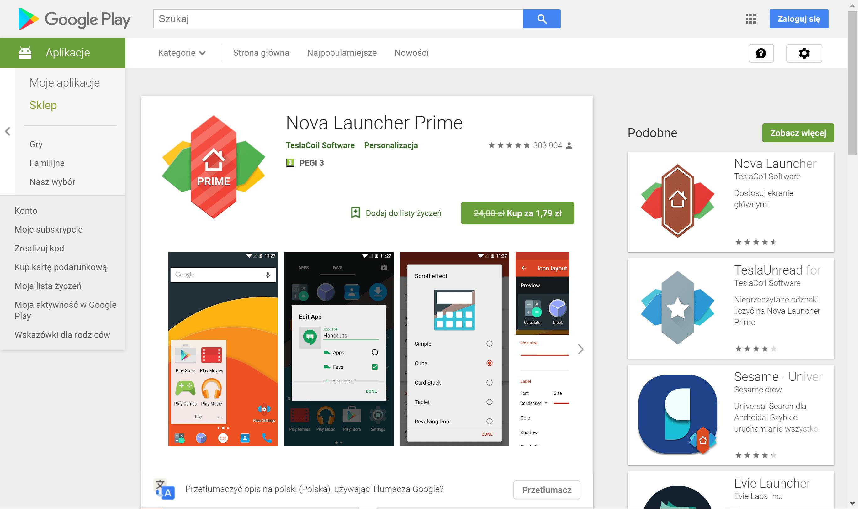 Tabletowo.pl Nareszcie! Nova Launcher Prime do kupienia za jedyne 1,79 zł! Android Aplikacje Promocje