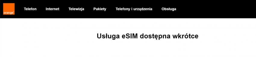 Tabletowo.pl e-SIM w Orange już tuż, tuż. Strona wsparcia Apple zdradza zamiary pomarańczowego operatora Apple GSM