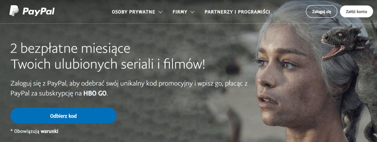 Promocja na HBO GO: dwa miesiące bezpłatnego korzystania z serwisu przy płatności przez PayPal 23
