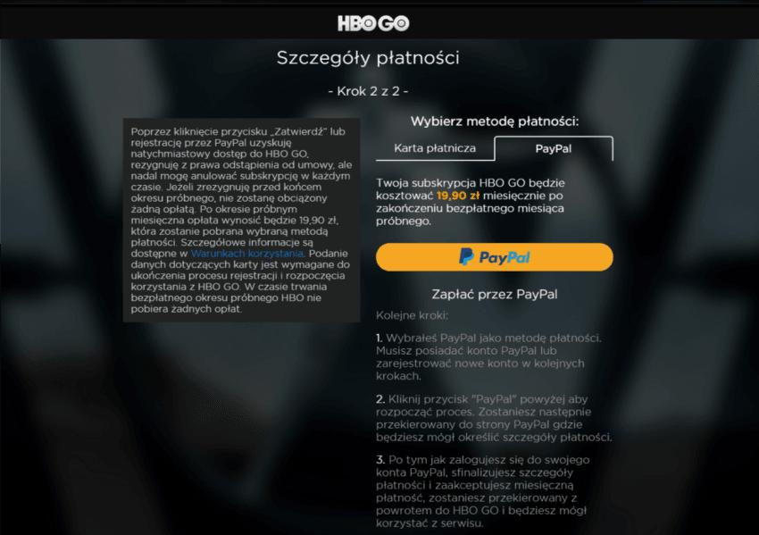 Promocja na HBO GO: dwa miesiące bezpłatnego korzystania z serwisu przy płatności przez PayPal 19