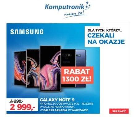 Samsung uderza! Mocna promocja na Galaxy Note 9 - w warszawskiej galerii Arkadia dostaniecie go za 2999 zł! 19