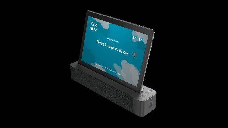 """Tabletowo.pl Lenovo stworzyło dom dla Alexy od Amazonu - Smart Tab należy do nowej kategorii tabletów """"2 w 1"""" Asystenci głosowi Lenovo Nowości Tablety"""