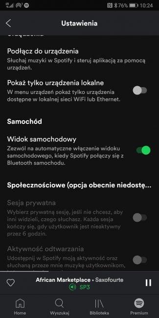 """Tabletowo.pl Spotify ułatwia obsługę aplikacji podczas jazdy, uruchamiając """"Widok samochodowy"""" Aktualizacje Aplikacje"""