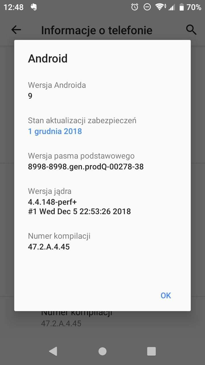 Nokia 8 Sirocco i Sony Xperia XZ1 Compact dostają aktualizację do Androida 9.0 Pie 22