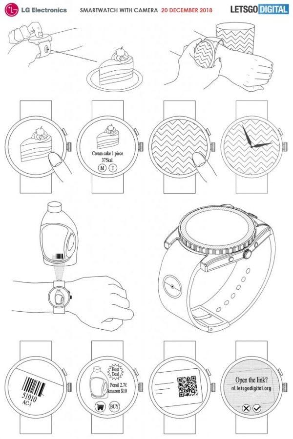 Tabletowo.pl LG zamierza zbudować smartwatch z aparatem w postaci modułu. Do robienia zdjęć ciastkom Koncepcje LG Wearable