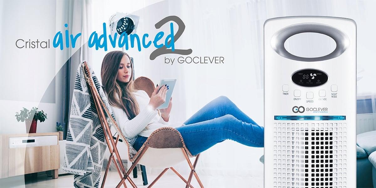 Na półki sklepowe trafił nowy oczyszczacz powietrza - GOCLEVER Cristal Air Advanced 2 22