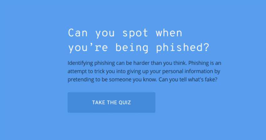 Czy jesteś odporny na phishing? Sprawdź się w krótkim teście Google