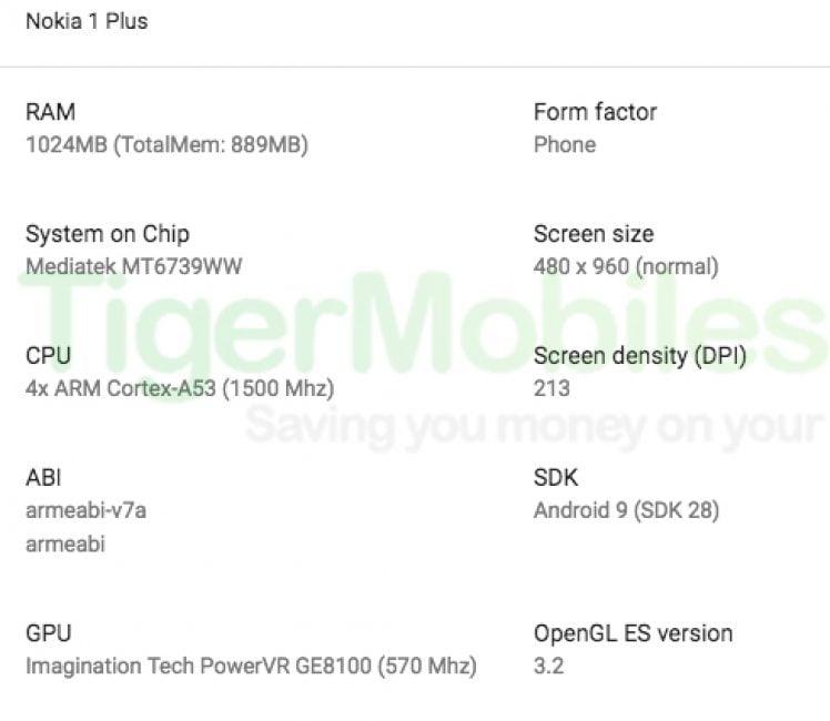 Wyciekła specyfikacja Nokii 1 Plus - budżetowca z Android Go