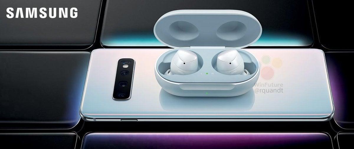 Tabletowo.pl Słuchawki Galaxy Buds zaoferują tę samą funkcję, co Huawei FreeBuds 2 - ładowanie bezprzewodowe przez smartfon Plotki / Przecieki Samsung Smartfony