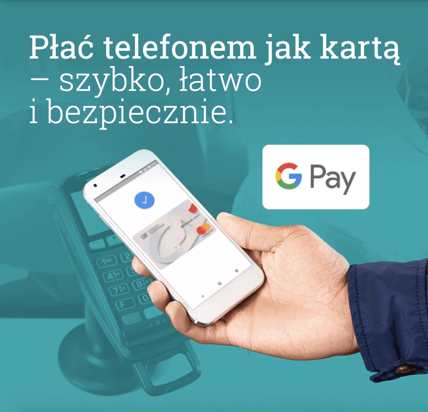 Google Pay od dziś dostępne jest również dla klientów banku Credit Agricole