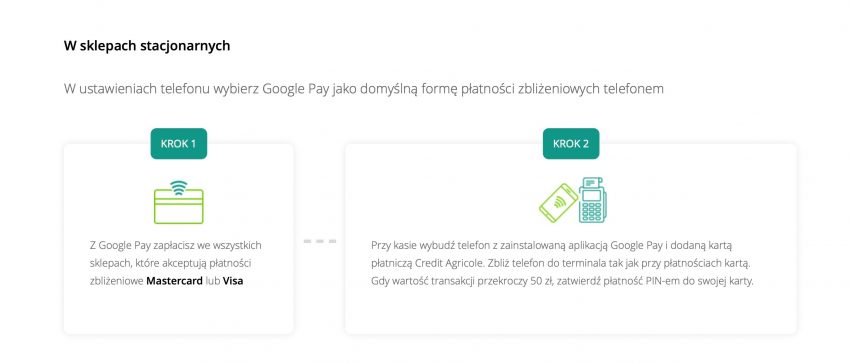 Tabletowo.pl Google Pay od dziś dostępne jest również dla klientów banku Credit Agricole Aplikacje Google Nowości