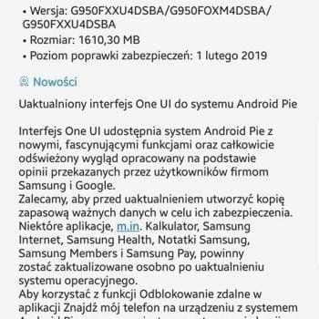 Aktualizacja do Androida Pie dla Samsunga Galaxy S8 i Galaxy S8+ startuje w Polsce!