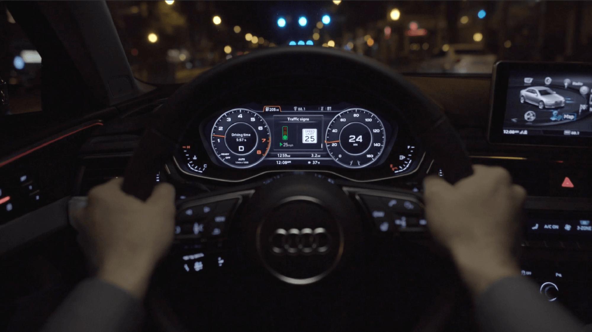 Samochód Audi powie, z jaką prędkością się poruszać, by uniknąć zatrzymywania się na czerwonych światłach