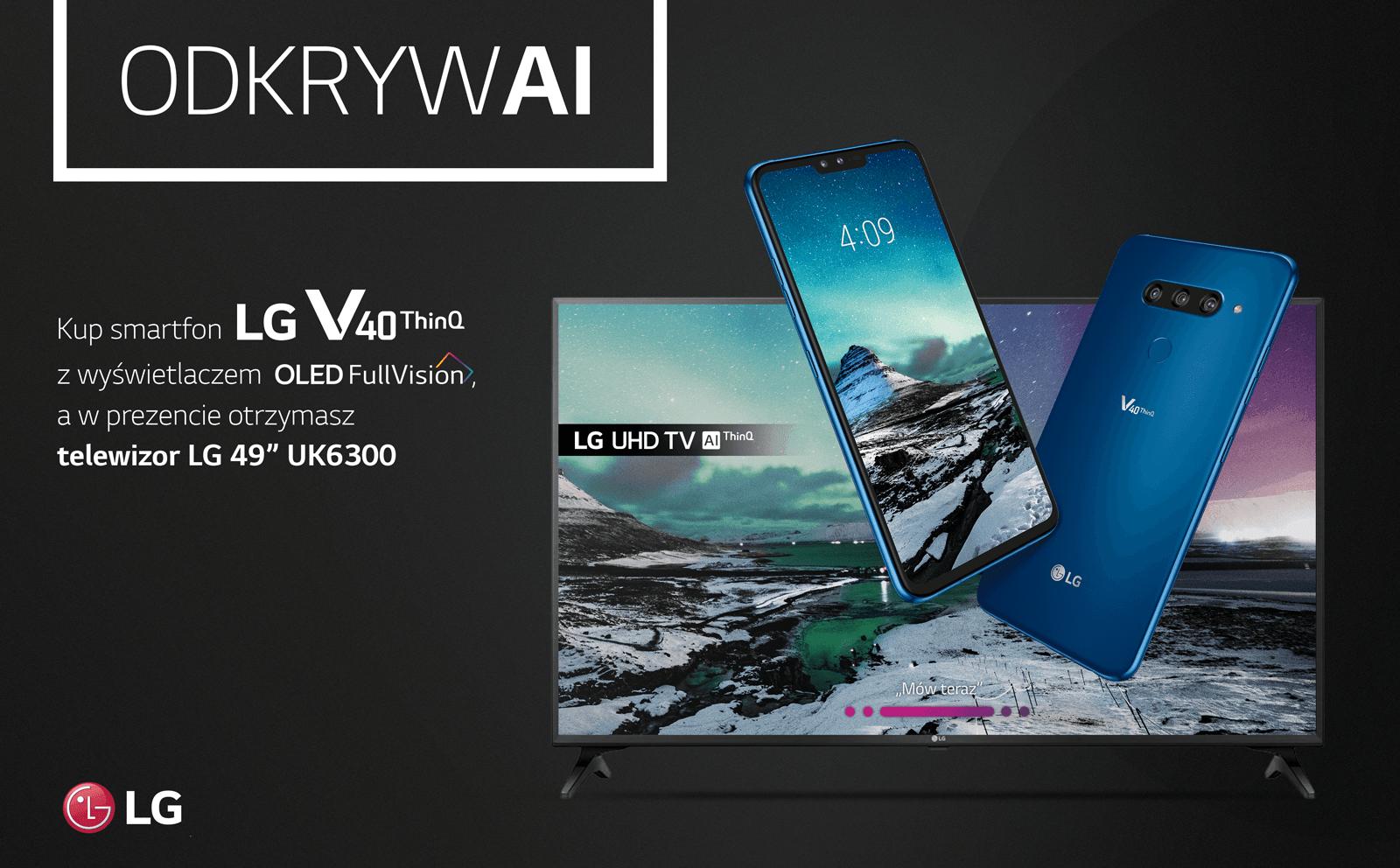 Tabletowo.pl LG V40 od jutra dostępny w Polsce. Będą go sprzedawać razem z 49-calowym telewizorem 4K LG Nowości Smartfony
