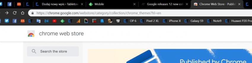 Tabletowo.pl 12 kolorowych skórek dla przeglądarki Google opublikowanych w Chrome Web Store. To jeszcze nie tryb nocny Aplikacje Google