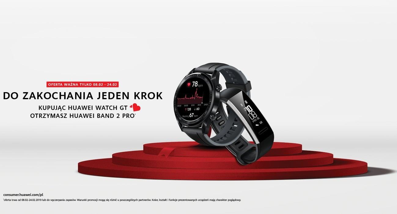 Promocja: opaska Huawei Band 2 Pro w prezencie przy zakupie smartwatcha Huawei Watch GT 16