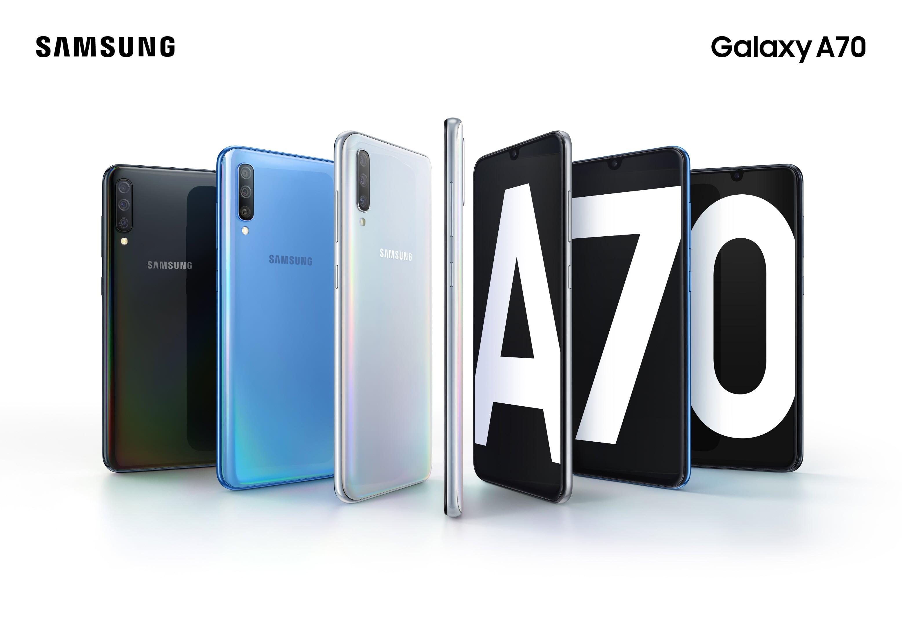 Samsung Galaxy A70 smartphone
