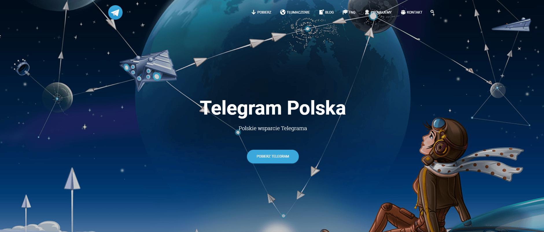 Telegram właśnie dostał nową, polską witrynę internetową