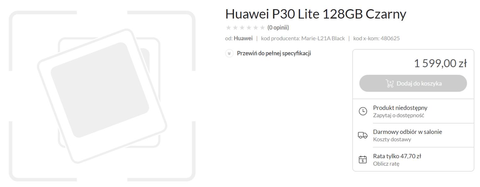 Znamy cenę Huawei P30 Lite w Polsce. Na szczęście producent nie zdecydował się na podwyżkę