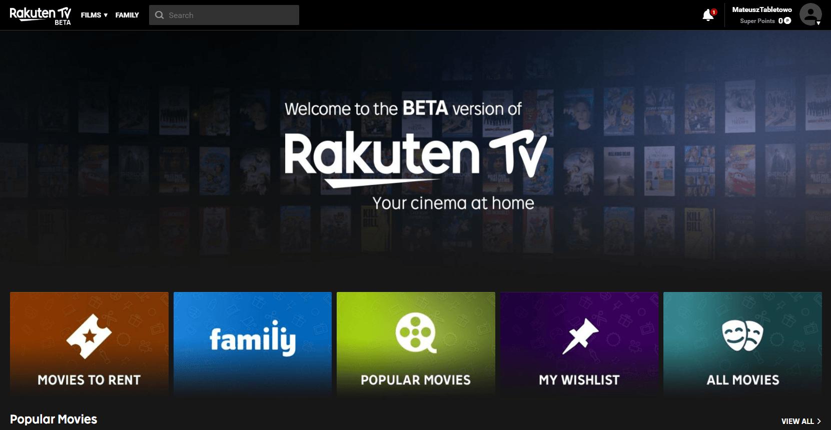 Rakuten TV w Polsce - powitajmy VoD w jakości 8K