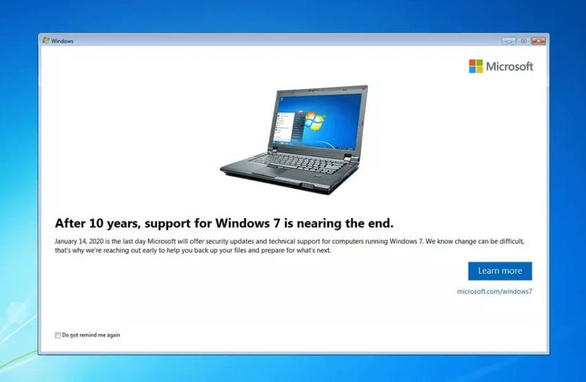 Kończy się wsparcie dla Windows 7 - system zaczął wyświetlać komunikaty
