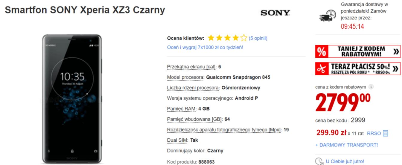 Samsung Galaxy Note 9 sporo taniej. W promocji także Galaxy A9 2018 i Xperia XZ3
