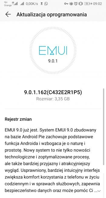 Honor 9 dostaje aktualizację do Androida Pie i EMUI 9.0