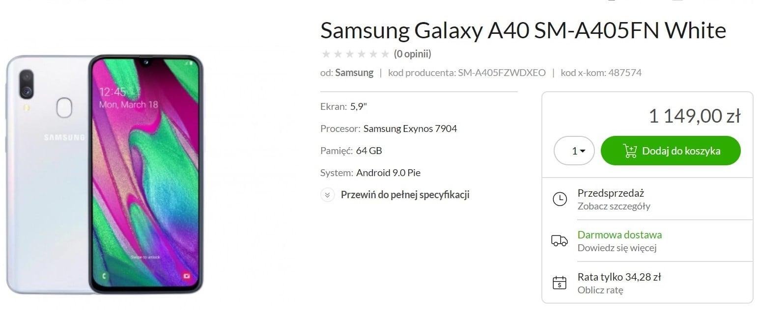 Samsung chyba przestał przesadzać z cenami - Galaxy A40 już w Polsce, razem z całą rodziną średniopółkowców