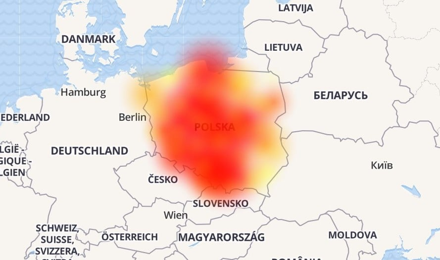 Orange ma problem z usługami Google. Skargi o awarii napływają z całej Polski