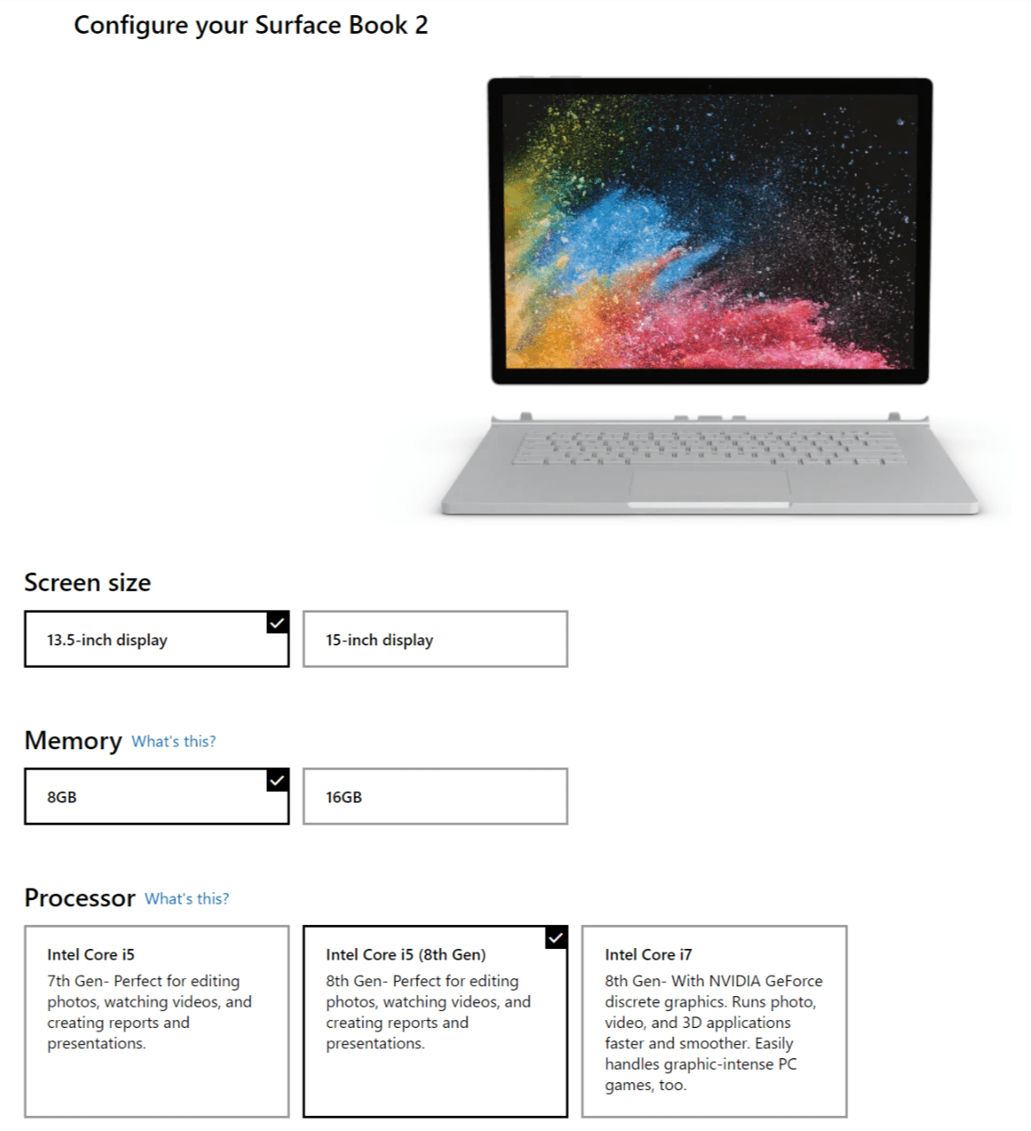 Surface Book 2 pojawia się w wersji z procesorem Intel Core i5 ósmej generacji 19