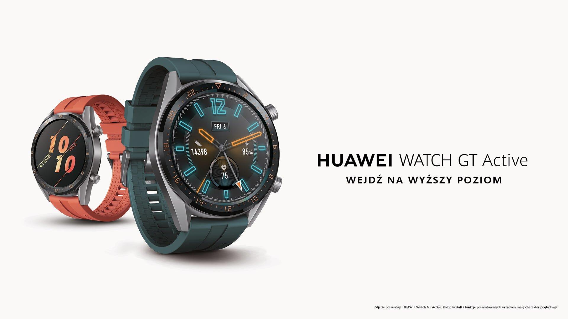 Huawei Watch GT Active z wyczekiwaną aktualizacją. Wreszcie można instalować tarcze z poziomu aplikacji
