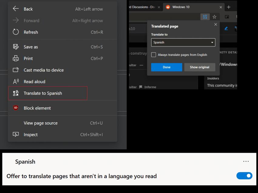 Edge oparty o Chromium dostał nowąfunkcję. Microsoft testuje tłumaczenie stron internetowych 17