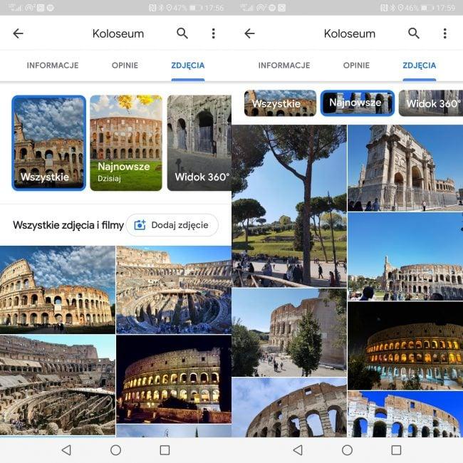 Mapy Google z przydatnym filtrem. Dzięki niemu zobaczymy tylko najnowsze zdjęcia danej lokalizacji