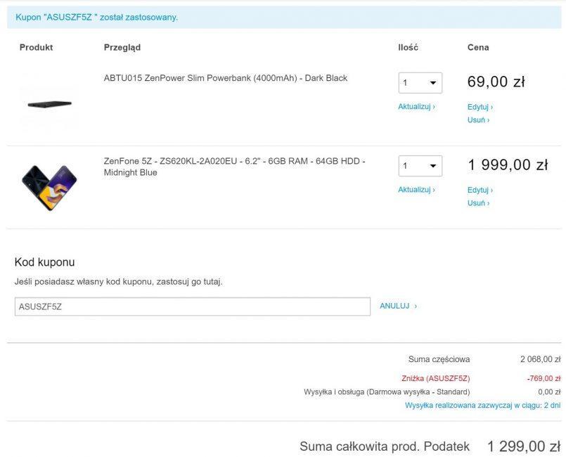 Szybka akcja: Asus ZenFone 5Z z gratisowym powerbankiem za 1299 zł, czyli 500 złotych taniej!