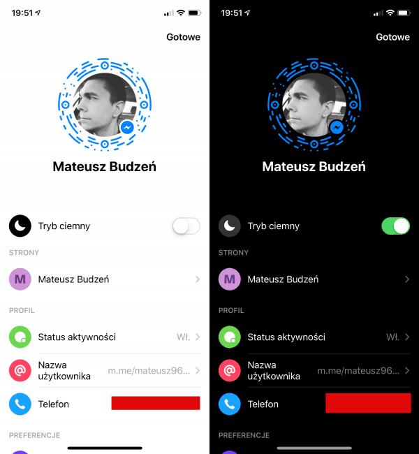 Messenger z ciemnym motywem już oficjalnie. Emoji księżyca nie jest potrzebne