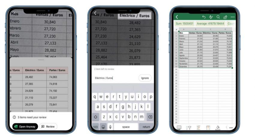 Excel: Wstawianie danych z obrazu do arkusza kalkulacyjnego, już w drodze na iOS 18